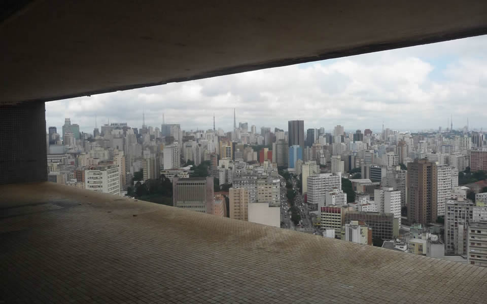 Sao Paolo - The essence of cityness - A view from the top floor of Oscar Niemeyer's Copan building