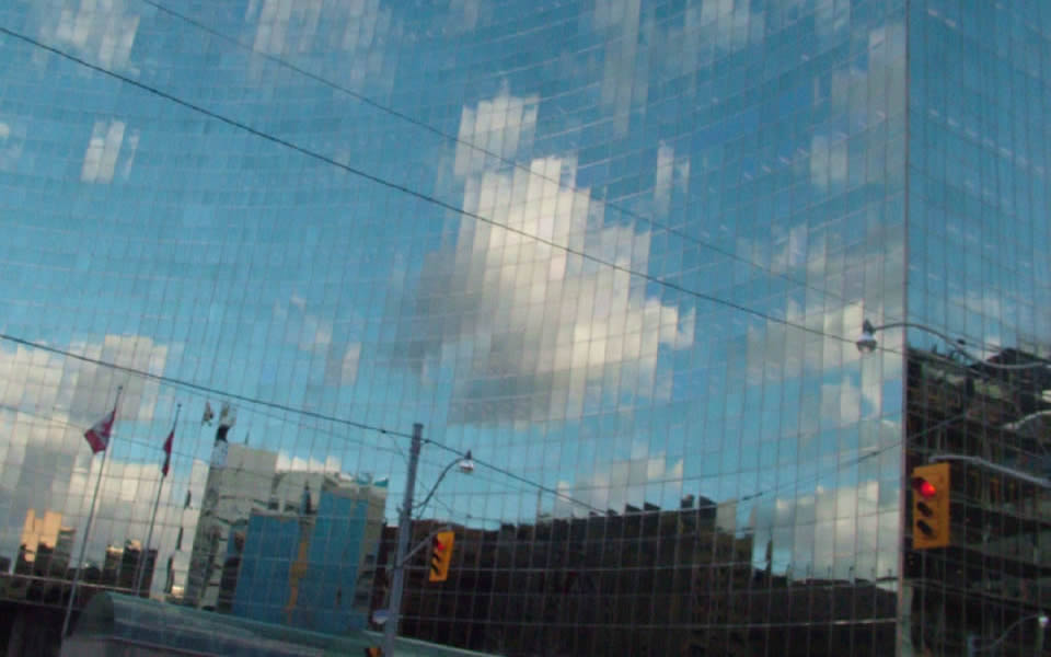 Toronto - increasingly reflective glass