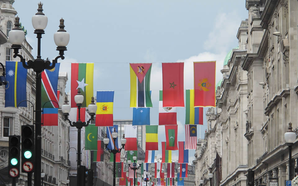 London Olympics in Regent Street. Seeking to establish global resonance