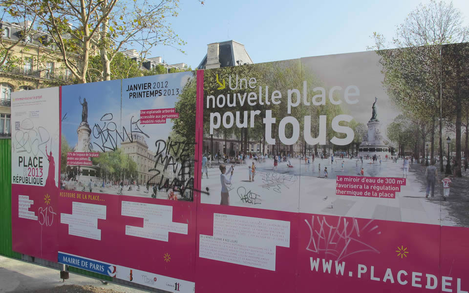 Paris - A public space for all being constructed