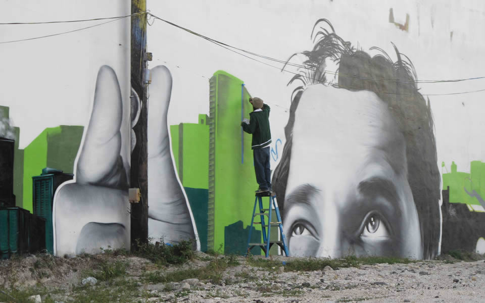 Miami - The  Wynwood industrial area has become an open air art gallery