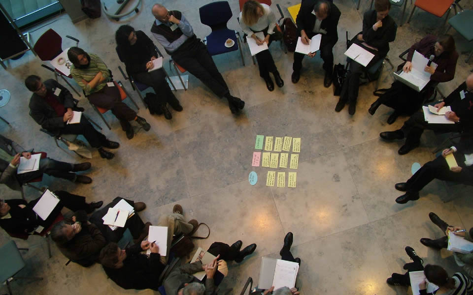 Berlin - Group brainstorming on the future of the city