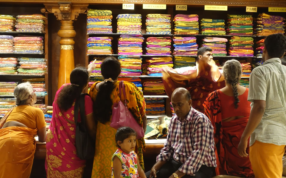 Chennai - the biggest cloth market