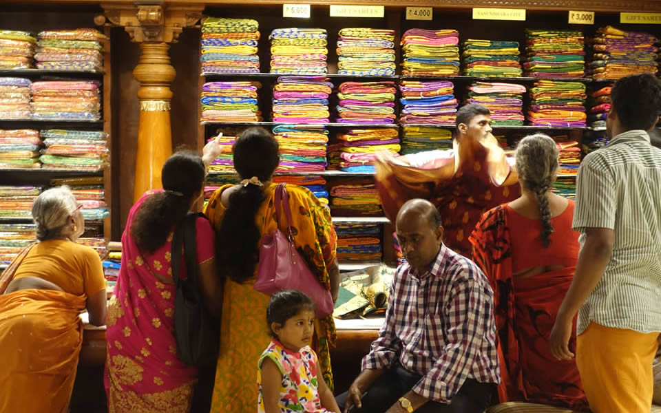 Chennai - Pothys store, more cloth than you will ever need