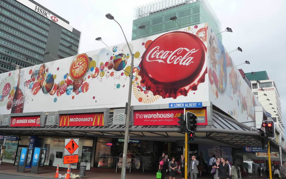 Auckland Coca Cola's aim is to be ever-present