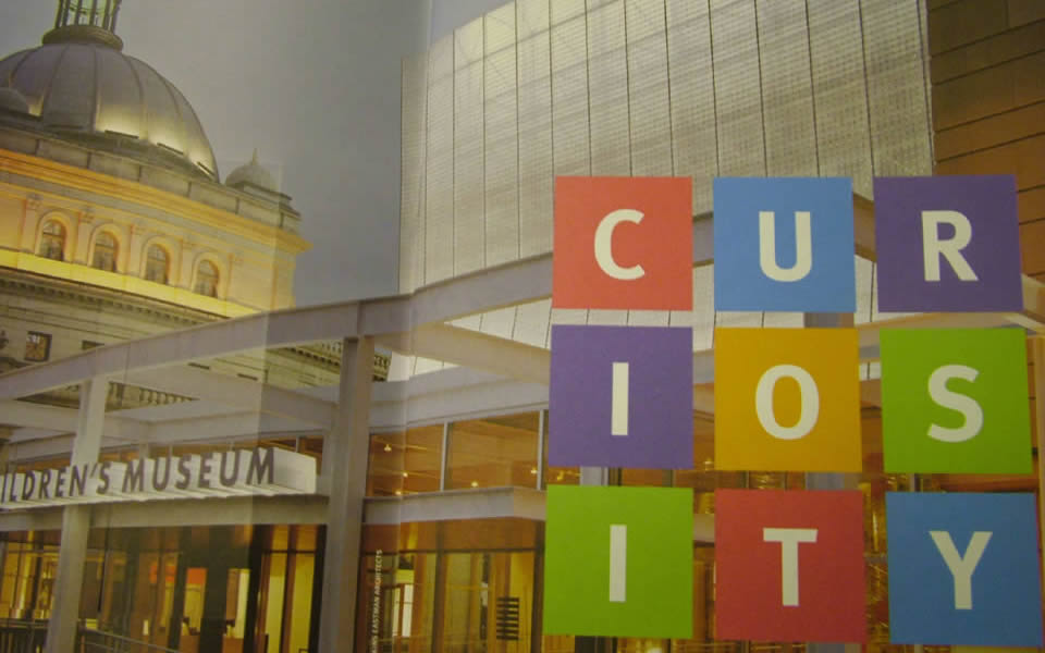 Pittsbrugh - Entrance to a children's museum. Curiosity is a precondition of creativity