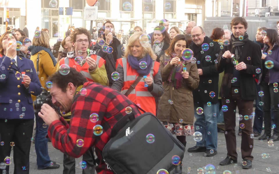Ghent - Flash mob against violence against women