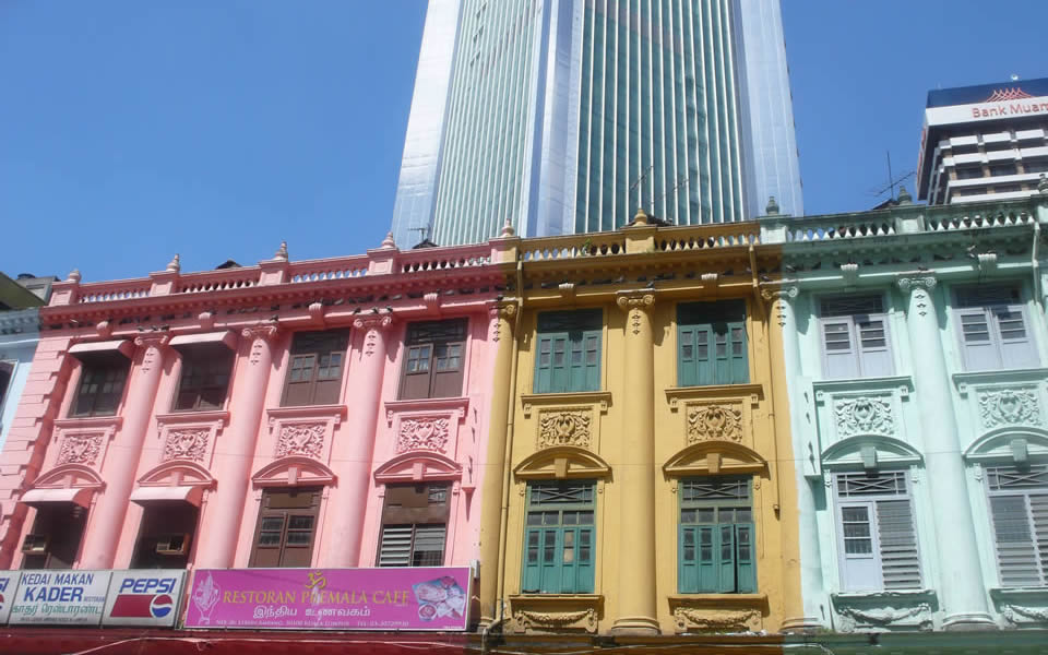 Kuala Lumpur A clash of old with low grade 1970's buildings