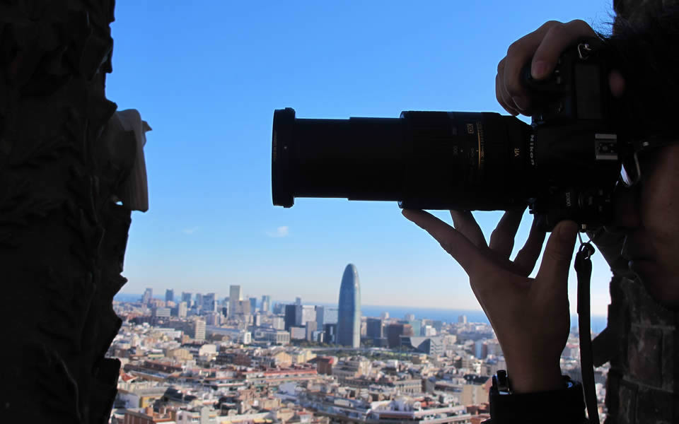 Barcelona - The Index looks holistically. Observing from within the Sagrada Famiglia towers
