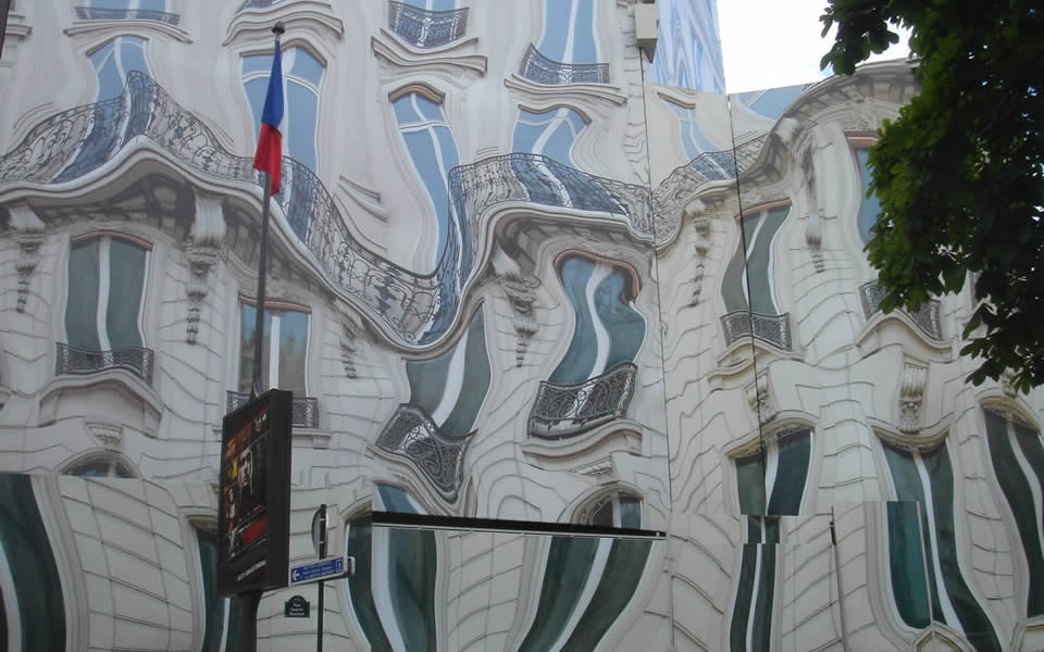 Paris - Building clad in praise of surrealism