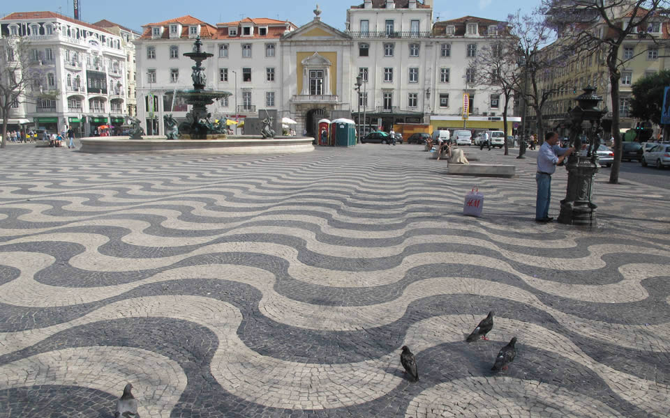 Lisbon - Rossio Square, one of the best in Europe
