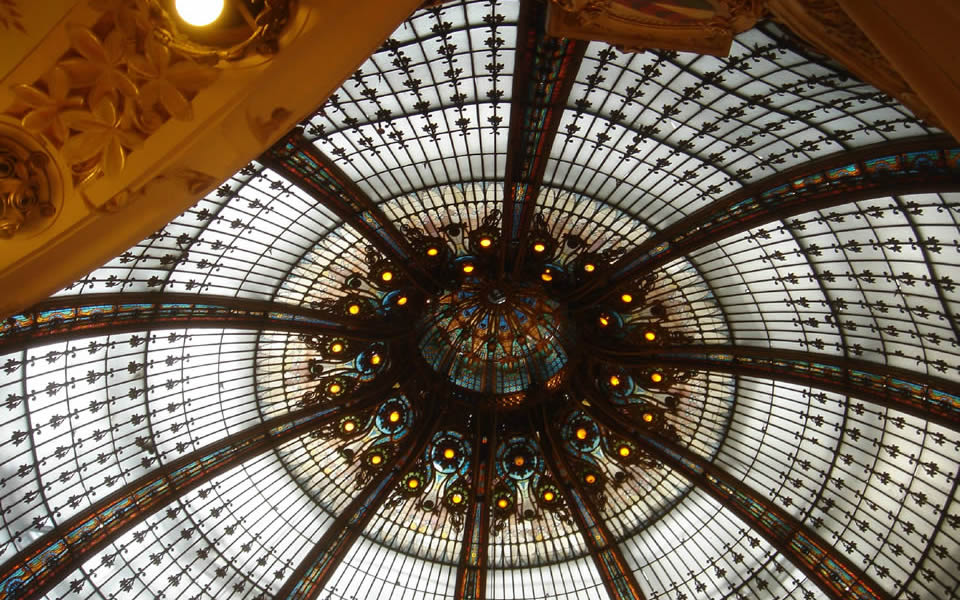 Paris - Galerie Lafayette, shopping at its classic best