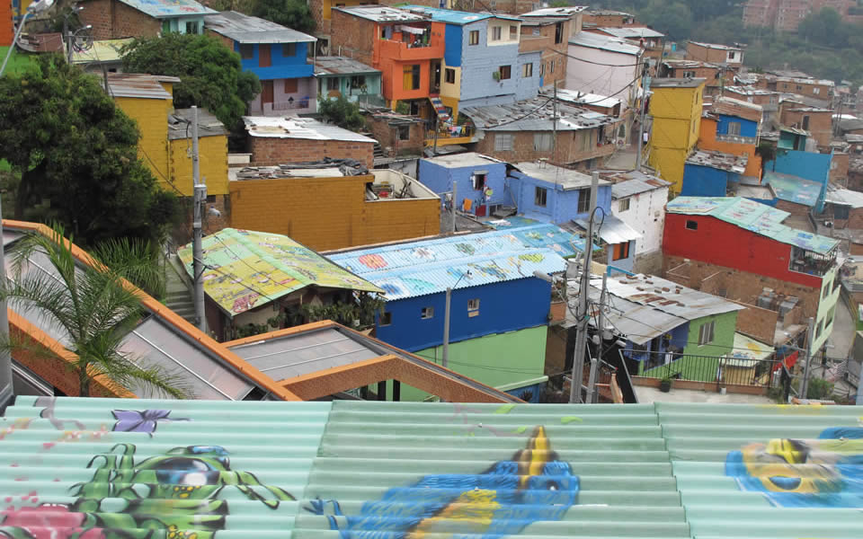 Medellin - Comuna 13 extremely violent and now connected to the city