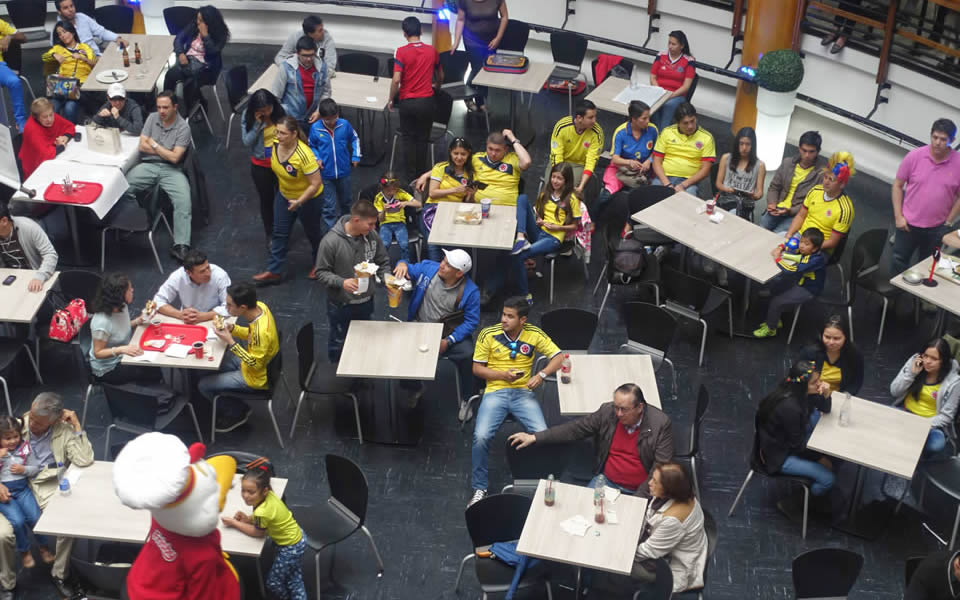 Bogota - waiting for the football match